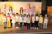 "Today our kindergartens and primary school students watched and had lots of fun with the English theatre called ""The Stone Soup""."