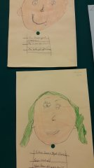 Pupils drew their imaginary characters.
