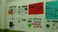 5-A Prepared Go Green Posters to save our planet.
